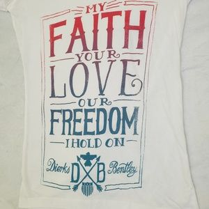 Next Level Apparel Tops - 🔥5/$20My faith, your love, our freedom I hold on